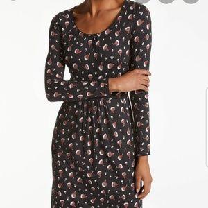 Boden Mabel Jersey Dress in Black Blossom